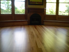 lounge floor after sanding