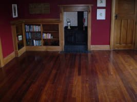 lounge floor before sanding